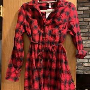 Isabel maternity plaid dress